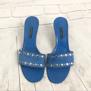 Bruno Magli Blue Suede Leather Shoes